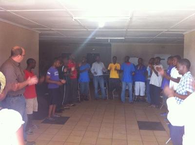 Student staff meet for prayer