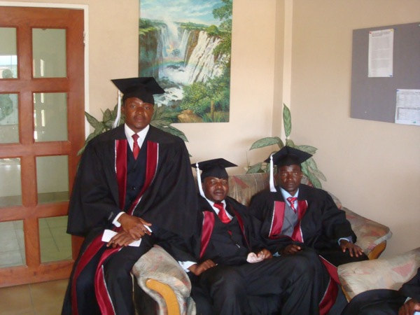 Graduates relaxed