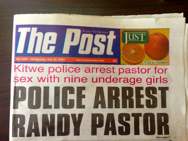Police Arrest Pastor Newspaper